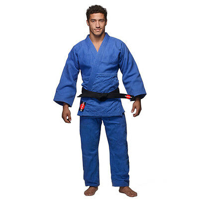 KANKU Judo Uniform, Heavy duty double Weave 750 gram White and Blue Gi, Uniform  Double Weave Judo Uniform