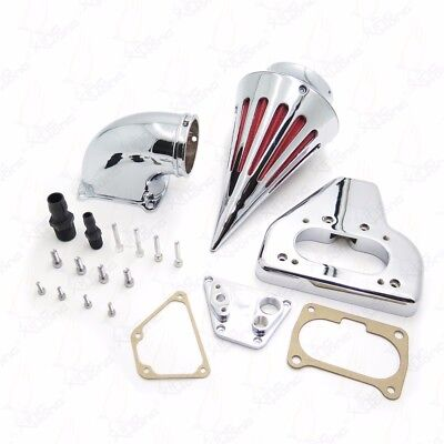 X. Chromed New Intake Spike Air Cleaner Kits For 2002-2009 Honda Vtx 1800 R S