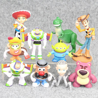 Toy Story Woody Buzz Lightyear Rex Alien Bear 10 PCS Action Figure Doll Gift Toy