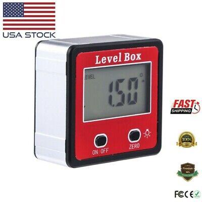 Magnetic Digital Inclinometer Led Level Box Gauge Angle Meter Finder Protractor