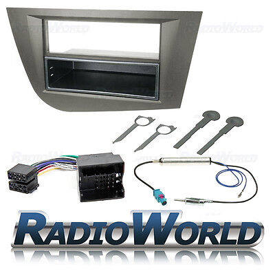 Seat Leon MK2 Single Din Car Stereo Radio Fascia ISO Aerial Fitting Kit Surround