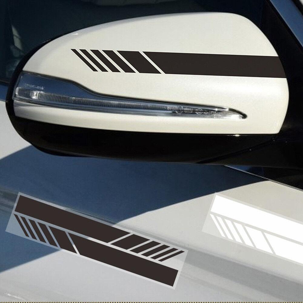 2pcs auto vinyl racing stripe rearview mirror car window for Mirror stickers
