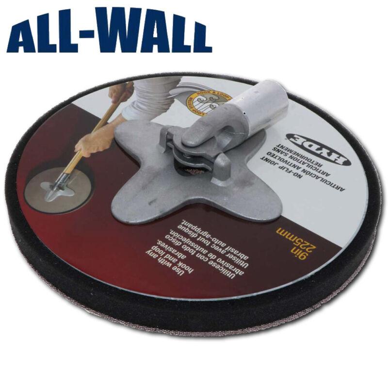 """Hyde 9"""" Radial Round Drywall Pole Sander Head """"No Flip"""" w/ Hook & Loop Backing"""