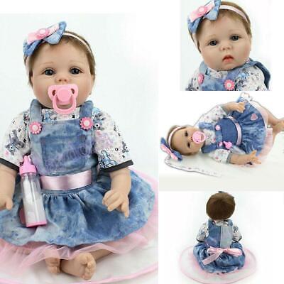 Reborn Dolls Realistic Newborn Baby Doll Lifelike Vinyl Girl 22