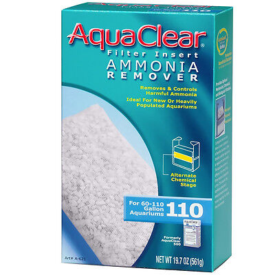 - Aquaclear filter insert Ammonia Remover (60-110 gal)