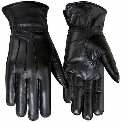 Winter Dress Gloves Women Thermal Linning Genuine Leather Glove Black, 7.5-Large