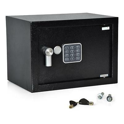 New! Compact Electronic Safe Box with Mechanical Override  Includes Keys 13 x 9