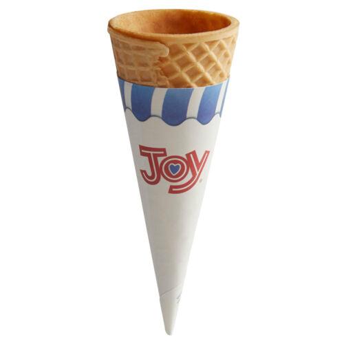 800 Case Bulk #415 Kosher Medium Pointed Jacketed Sugar Ice Cream Cone