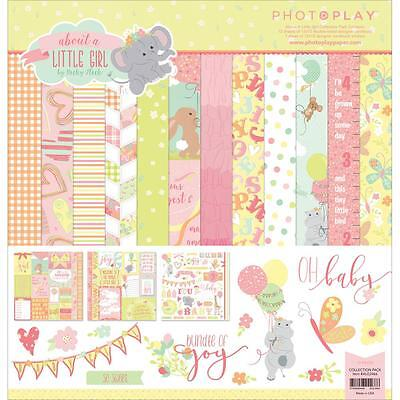 (Scrapbooking Crafts Photo Play 12X12 Paper Pack About A Little Girl Baby Pink)
