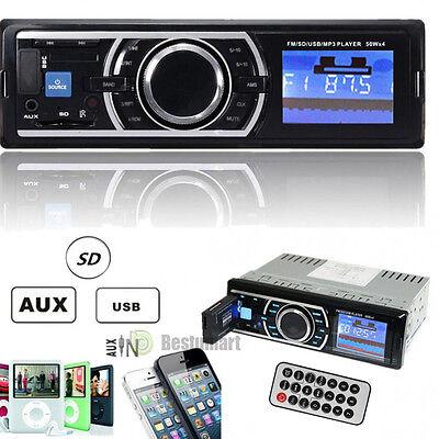 Auto Car Stereo Audio In Dash Fm Aux Input Receiver Sd Usb Mp3 Wma Radio Player