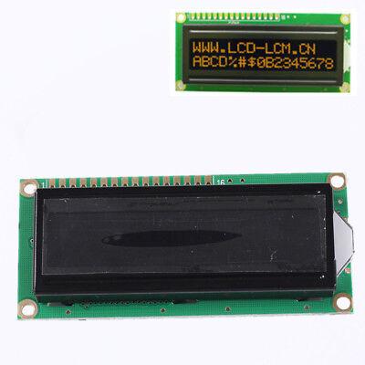Lcd1602a Orange Character Dot Matrix Lcd Display Module 16x2 Black Background