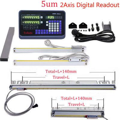 Digital Readout 2axis Dro Display Ttl Linear Scale Cnc Bridgeport Milling Lathe