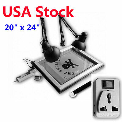 Usa 20 X 24 Uv Exposure Unit Screen Printing Plate Making Silk Screening