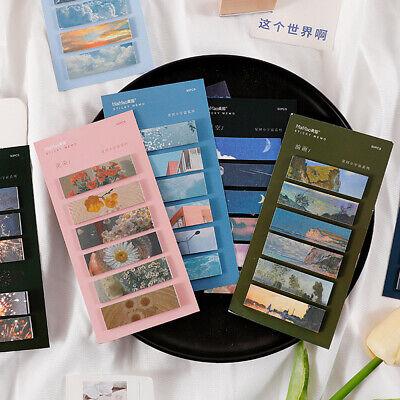 90pcs Starry Sky Sticky Note Mark Tabs Index Sticker Message Memo Pad Stationery
