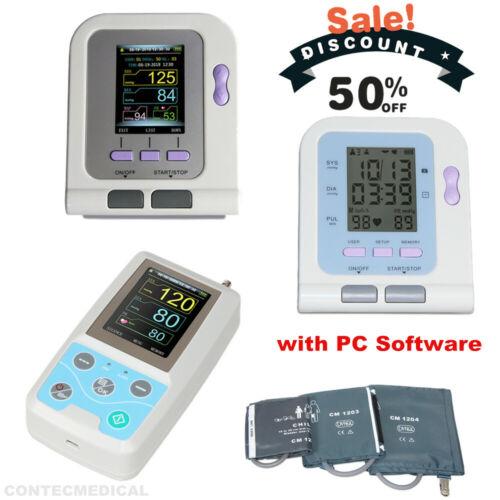 CONTEC Digital /Ambulatory Blood Pressure Monitor NIBP Machine+USB,Optional SpO2
