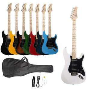 Beginner Training Electric Guitar Set Bag Wire Tool Strap Picks Multi Style Gift