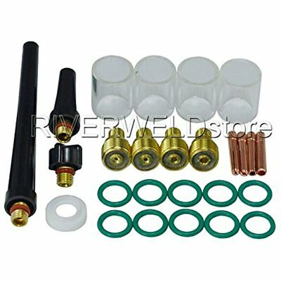 Tig Welding Equipment Gas Lens Collet Body 10 Pyrex Cup Kit Db Sr Wp 20 25 Torch