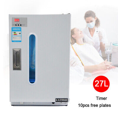 27l Uv Sterilizer Dental Medical Disinfection Cabinet W 10 Sterilization Trays