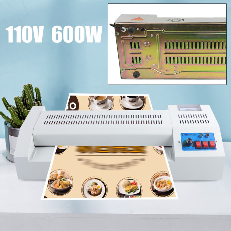 """USA! A3 Hot & Cold 13"""" Thermal Photo Roller Pouch Laminator Machine"""