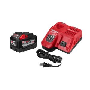 Milwaukee M18 9.0 Battery and Rapid Charger