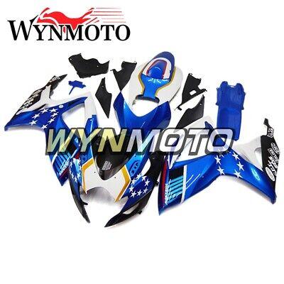 Blue White Fairings for Suzuki GSXR600 2006 2007 Bodywork GSXR750 06 07 Panel K6