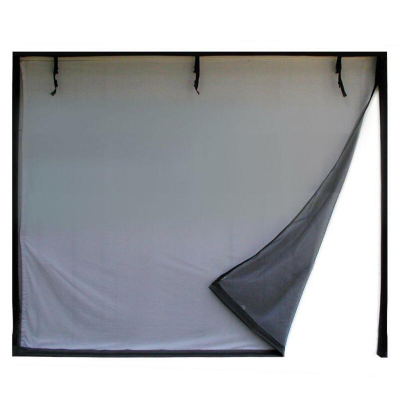 Fresh Air Screens Garage Door Screen 2-Zipper Shut Out Insec