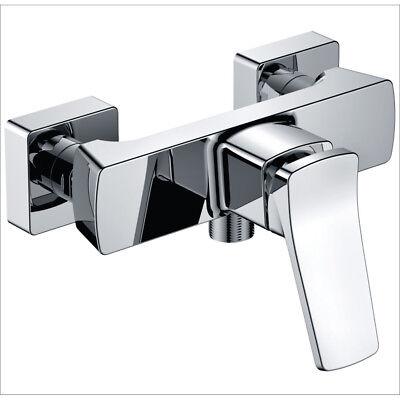Brausearmatur Duscharmatur Wasserhahn für Dusche Mischbatterie Bad Armatur eckig