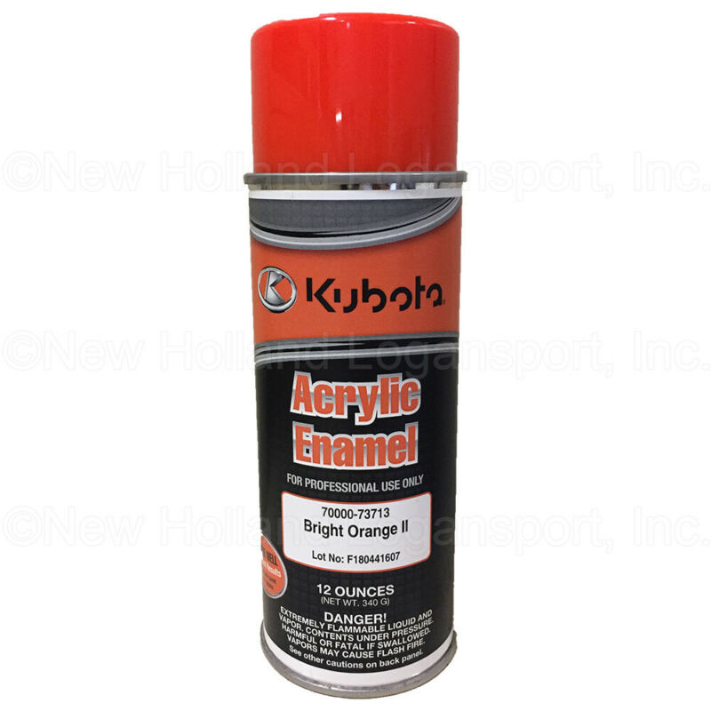 Kubota Orange II Lead Free Spray Paint Part # 70000-73713