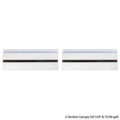 Versa-Tops Glass Canopy for 50/65 gallon Aqueon/AGA Brand Aquarium size 36 x 18