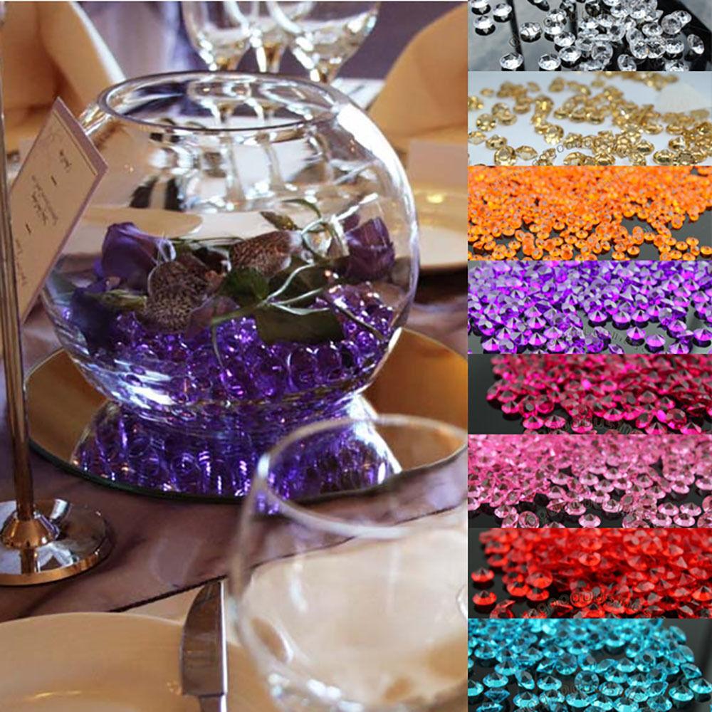 2000Pcs 4.5mm Acrylic Crystals Diamond Table Confetti Weddin