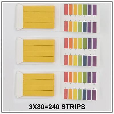 380 Strips Range Indicator Acid Water 1-14 Ph Testing Paper Alkaline Litmus