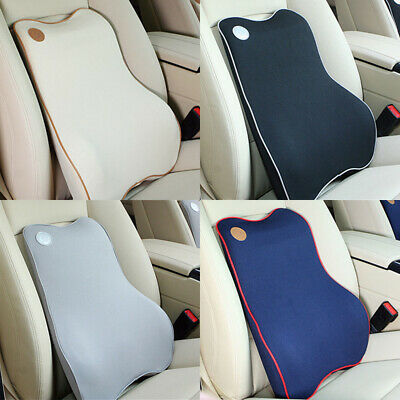 Memory Foam Lumbar Support Cushion for Home Office Car Seat Back Chair Pillow US ()
