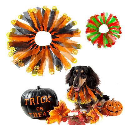 Dog Cat Pet Collars Costume Pumpkin Halloween Christmas Fancy Dress Grooming - Halloween Pet Collars