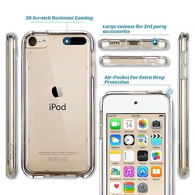 Ipod Screen Guard (Clear Silicone Gel Case & Screen Guard For iPod Touch 5 5th Generation Gen )