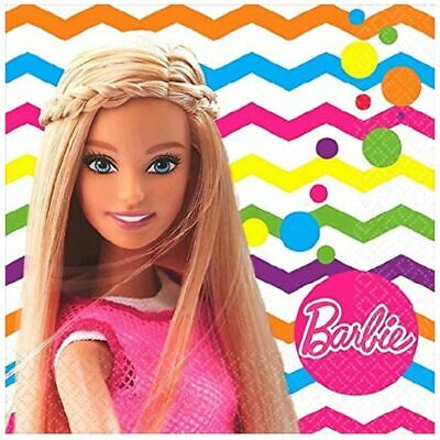 Napkins - Barbie - Small - Paper - 2Ply - 16ct - 10 X 10 in - Sparkle](Barbie Napkins)