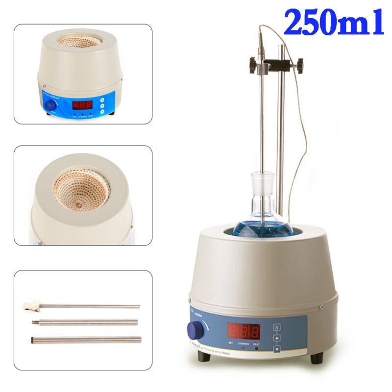 Electric Digital Magnetic Stirrer Stirring Heating Mantle & Stir Bar 250ml 150W