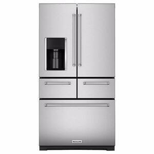 Réfrigérateur acier inoxydable 36, 5-portes, Congélateur en bas, KitchenAid