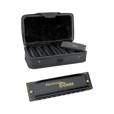 Hohner Piedmont Blues 7-Harmonica Pack with (Hohner Piedmont Blues 7 Harmonica Pack With Case)