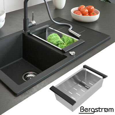 Fregadero compuesto de granito Bergström cocinas montaje base fregadero + válvul