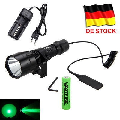 5000Lm XML Q5 LED Lampen Taschenlampe Jagd Licht Grün Mount 18650 Batterie AKKU Taschenlampe Mount