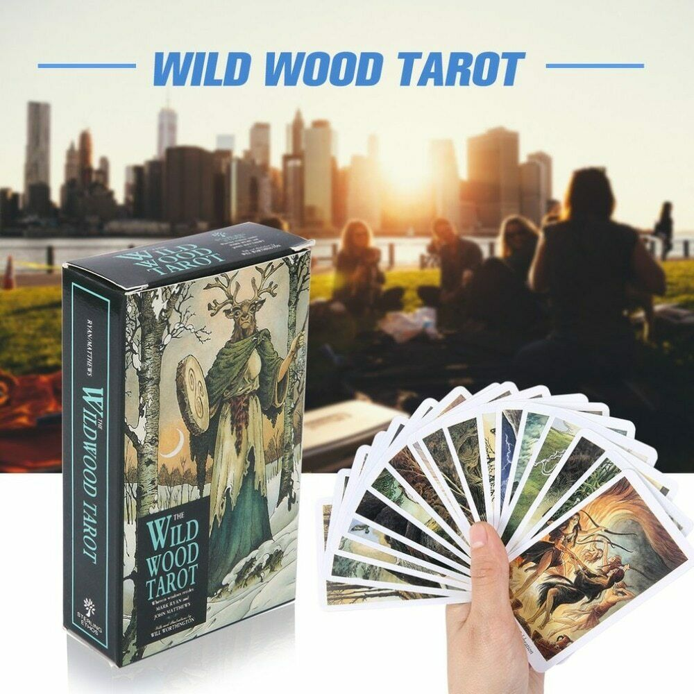78 Card Wild Wood Tarot Read Fate Tarot Card Game for Personal Use Collectibles