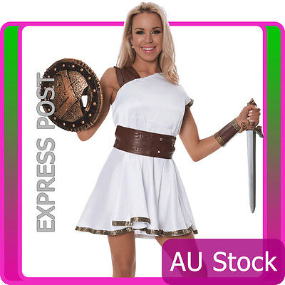 or Warrior Goddess Adult Roman toga Costume Halloween Dress (Gladiator Toga)