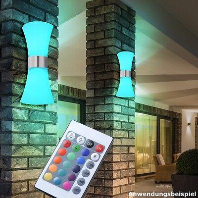 RGB LED 15 Watt Außen Terasse Wand Lampe Up Down Strahler Fernbedienung Dimmer