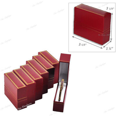 Hot Deal Lot Of 6 Red Standing Bangle Boxes Jewelry Boxes Bracelet Box Gift Box