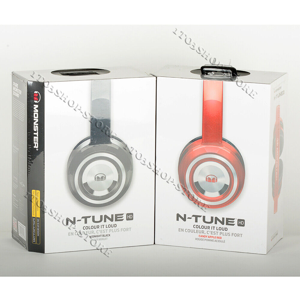 Monster N-Tune NTune HD On-Ear Headphones Headset with Contr