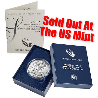 2017 W  Burnished Silver Eagle   With Box And Coa   Best Price Ever