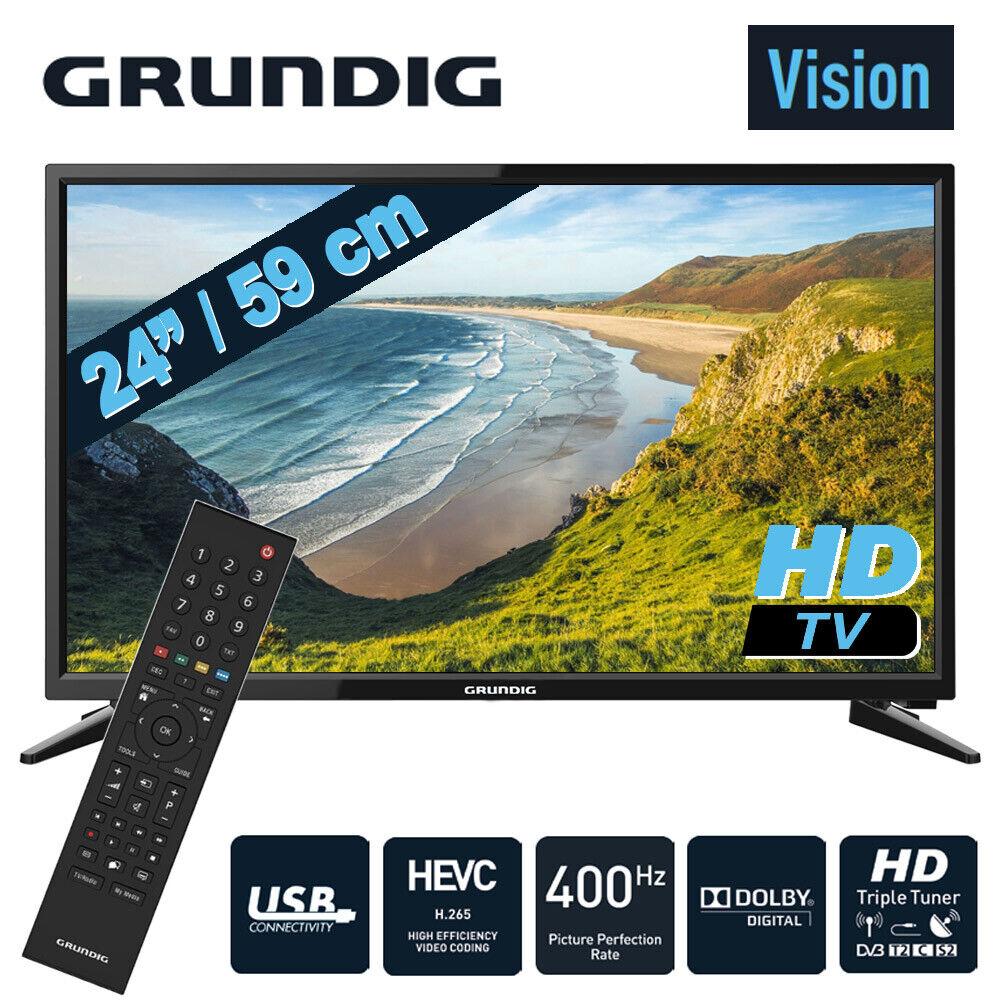Grundig 24 Zoll LED TV HD Fernseher Triple Tuner DVB-T2/C/S2 HDMI CI+ USB Dolby