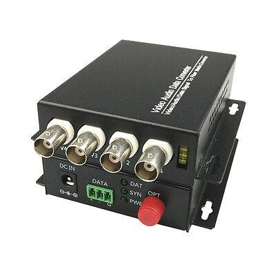 4CH Video Optical Fiber Optic Media Converters Transmitter Receiver CCTV