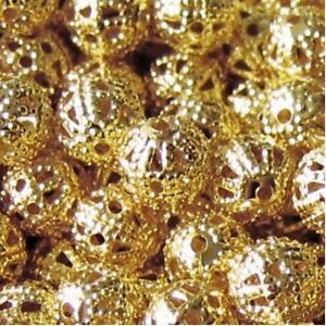 100-pcs-6mm-Iron-Finding-Beads-Gold-A6752
