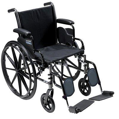 Drive Medical Cruiser III Light Weight Wheelchair W/ Flip Back Arm k318dfa-elr